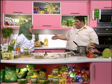 مطبخك 2011 - ح 26 - سمك مقلي بالشوفان - حمص بالطحينية - شوربة معكرونة - كنافة بالمهلبية