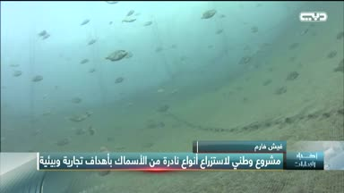 """أخبار الإمارات - """"فيش فارم"""" مشروع وطني لاستزراع أنواع نادرة من الأسماك بأهداف تجارية وبيئية"""