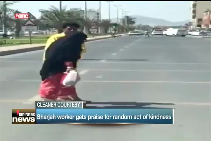 News Reports: Sharjah worker gets praise for random act of kindness