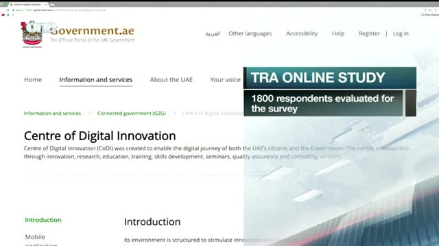 News Reports: Majority of online users approve UAE Government official portal