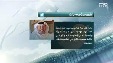 قرقاش: الإمارات لا تحمل مشروعا أنانيا لأن دورها أقوى ضمن فريق عربي تقوده السعودية ومصر