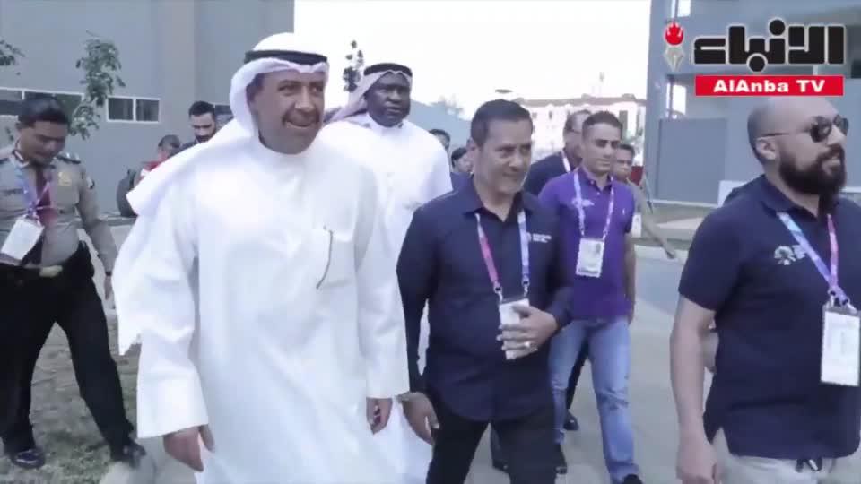 الشيخ أحمد الفهد يزور لاعبي الكويت المشاركين في الألعاب الآسيوية بالقرية الأولمبية