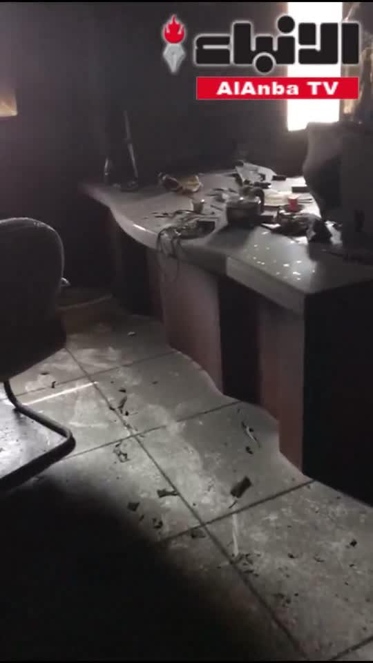 تفحم محتويات مبنى عمليات مديرية أمن محافظة العاصمة في حريق فجر أمس